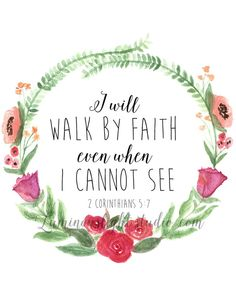 2 Corinthians 5:7 Digital Print by LuminousLightStudio on Etsy