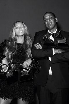 Beyoncé & Jay Z At the 2015 57th Grammys awards