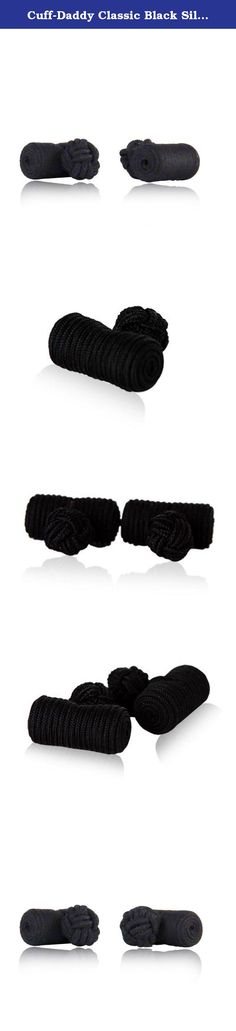 Cuff-Daddy Classic Black Silk Knot Log Cufflinks With Velour Pouch. For those who prefer a lightweight feel on their cuffs yet still retain a fashionable look, check out these log style cufflinks which is a great alternative to the metal based designs. The classic color of black is applied in this particular design. The silk material used in creating this lightweight knot log cufflinks were imported from Asia, the only place in the world where the finest silk is produced. These and all of...