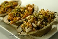 The popular bhelpuri made more nutritious with sprouts.