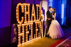 MARQUEE LETTERS CHAD & HELEN