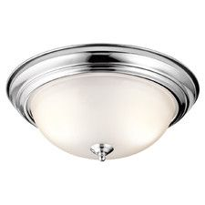 Satin Etched Large 3 Light Flush Mount
