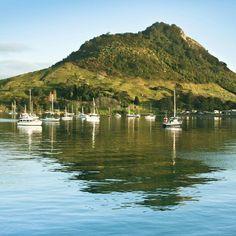 "@ed_kruger's photo: ""#nz #newzealand #tauranga #bayofplenty #sky #sea #blue #boat #zealand #scenery #scenic"""