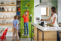 IDEAPAINT | WRITE ON ANY WALL Simply apply the IdeaPaint CLEAR over your wall paint, and you will have a big dry-erase surface that can be any color.
