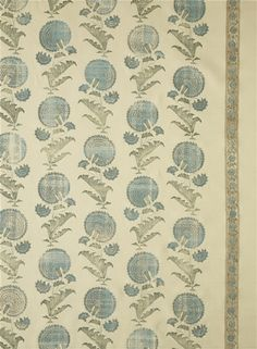 JP 1019 Indian Flower, color: Turquoise | Michael S Smith Inc.