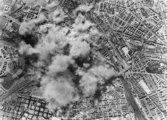 A view from one of the 150 Allied Flying Fortress bombers attacking the San Lorenzo freight yard and steel factory in Rome, July During the raid, a total of 521 allied aircraft bombed. Ww2 Pictures, Stock Pictures, Smoke Cloud, Today In History, Air Raid, Find Art, Wwii, City Photo, Rome Italy