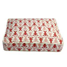 Lobster or crawfish print dog Bed #JoesCrabShack