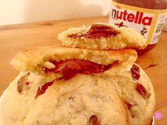 Ma recette de cookies milka nutella. De délicieux cookies croustillants à l'extérieur et moelleux à l'intérieur, fourrés au nutella