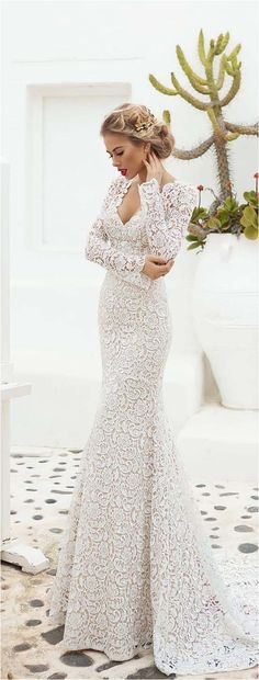 Fantastic 107 Best Long Sleeve Lace Wedding Dresses Inspirations https://bridalore.com/2017/12/30/107-best-long-sleeve-lace-wedding-dresses-inspirations/