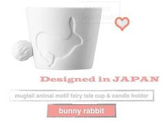 Small cup candle light holder fairy tale animal kingdom - bunny rabbit design