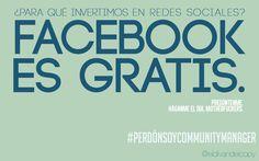 WALLPAPER de COMMUNITY MANAGER: Facebook es gratis.
