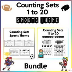 Let your students have fun counting 1 to 20 with our bundle of worksheets in the sports edition.A. Counting Sets 1 to 10 worksheetsThis includes 10 counting practice sheetsCounting practice sheets for Numbers 1-10The file is in PDF Format. A4 paper size.B. Counting Sets 11 to 20 WorksheetsThese work... School Resources, Classroom Resources, Teacher Resources, A4 Paper, Paper Size, Classroom Organization, Classroom Management, School Stuff, Back To School