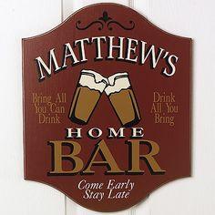 Personalized Bar Sign- Perfect for groomsman Matt!