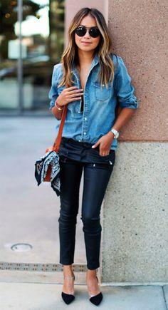 A Camisa Jeans é super curinga no Inverno e também no Verão! Além de deixar qualquer produção mais moderna, ela combina com tudo – desde looks com shorts, saias, calça jeans ou de tecido plano! Outra opção, além de usar a camisa fechada, é usá-la aberta com um top cropped ou uma lingerie especial por …