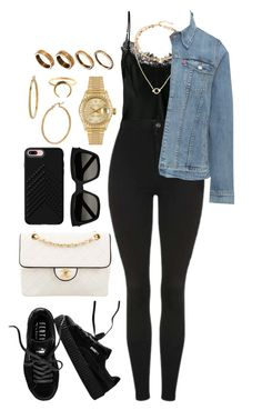 """Untitled #572"" by naomiariel ❤ liked on Polyvore featuring Chanel, Gold Hawk, Topshop, Levi's, Puma, Rebecca Minkoff, Yves Saint Laurent, Rolex, Bony Levy and ASOS"