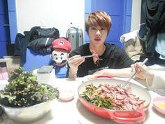 If you're a fan of BTS's Jin, then you know how much he loves to EAT! Join us as we share our top 7 favorite moments from EAT JIN! Bts Jin, Bts Bangtan Boy, Car Door Guy, Kpop, Worldwide Handsome, Namjin, Fan Fiction, Seokjin, A Food
