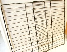 clean oven racks: Just as you would your white clothes! Hot water, dryer sheets, (ands I added a cup of laundry detergent) started working b4 I could fill the tub w/ water!