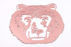 Jumbo Laser cut Metal Grizzly Bear Sign or Decal Emblem Mascot or Business Logo  The Pink Room  170129 by ThePinkRoom