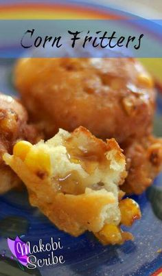 Fried corn fritters