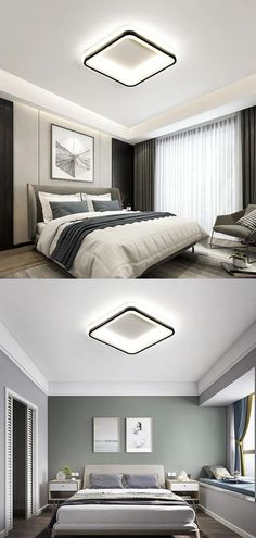 Item Type: Ceiling Lights Is Bulbs Included: Yes Certification: CCC,RoHS,ce,FCC,LVD,EMC Body Material: Iron Light Source: LED Bulbs Style: Modern Base Type: Wedge Switch Type: Remote Control Finish: Iron Is Dimmable: Yes Shade Direction: Up & Down Shade Type: Shadeless Installation Type: Flush Mount Power Source: AC Voltage: 90-260V Warranty: 2 Years