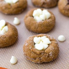 Soft Gingersnaps with White Chocolate