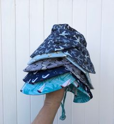 Baby Girl Cotton White Strawberry Bucket Sun Hat Chin Strap Age 6-12M 1 2 3 4