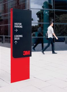 Outdoor freestanding directional pylon sign at 3M Project Vitality by THERE