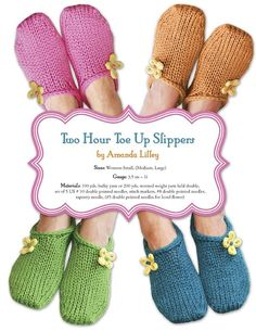 Knitting Patterns Slippers Knit slippers, looks like an easy way to ease into knitting socks? (which I fail terribly at) Easy Knitting, Knitting For Beginners, Knitting Stitches, Knitting Socks, Knitting Patterns Free, Knit Patterns, Knit Socks, Knit Slippers Free Pattern, Knitted Slippers