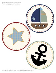 Sailboat 4 Inch Party Circles