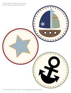 Sailboat 4 Inch Party Circles