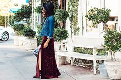 We have a crush on the velvet dress that our Chic of the Week is wearing!