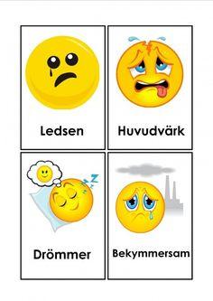 Mariaslekrum - Illustrerade känslor. Learn Swedish, Swedish Language, Teaching Resources, Humor, Motivation, Learning, School, Photo Illustration, Humour