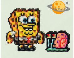 SpongeBob Squarepants Perler Beads Sprites by PixelPlanetShop