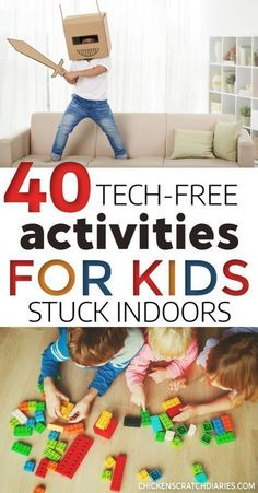 These fun and easy indoor activities for kids are perfect for winter or rainy days. Free printable available. #Activities #Kids #Fun #Winter #Indoors #Crafts #Games Screen-Free Educational Activities