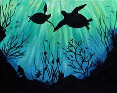 Paint Nite Sea of Love III sea turtles painting