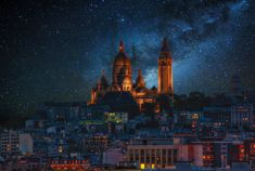 Paris under a starry sky...