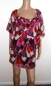 Womens Lane Bryant 22/24 Floral Sheer Blouse Top 2X