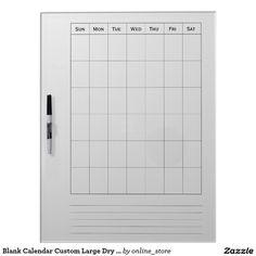 Blank Calendar Custom Large Dry Erase Boards