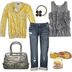 spring yellows, created by carrie2 on Polyvore azurazur