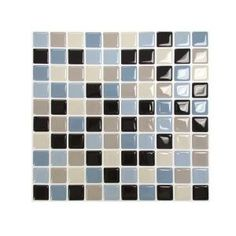 Smart Tiles 9.85 in. x 9.85 in. Multi Colored Peel and Stick Maya Mosaic Decorative Wall Tile-SM1004-1 at The Home Depot