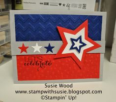 Stampin' Up!- Let's Celebrate with the NEW Star framelits and NEW mini star punch from the Itty Bitty Accents Punch Pack.