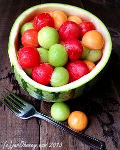 Simple Melon Ball Salad (raw-vegan) - Looks so yummy!!! *drool*