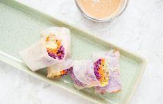 Verse loempia's met kleurrijke groentes & amandelsaus