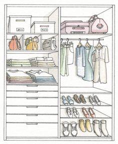 Armario: Ordena mejor y duplica el espacio · ElMueble.com · Dormitorios maletero: el espacio a partir de 210. cajones: planificamos de más a menos altura ( de 8 a 30 cm), para las estrechos interiores con separadores zapatero: con baldas de varias alturas para zapatos (30 cm) y botas (60 cm)