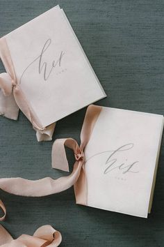 Velvet Vow Books Calligraphy and Typography Set of 2