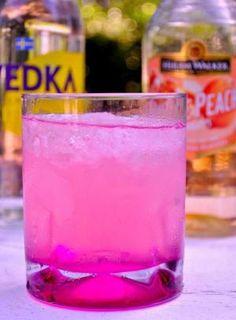 Peach Pink Lemonade    1 oz citrus vodka  1/2 oz peach schnapps  pink lemonade  crushed ice by miriam.mora3