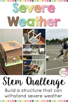 Help your students explore severe weather such as tornadoes, thunderstorms, and hurricanes with this engaging stem challenge for your science classroom! Students need to build a strong structure that can withstand extreme weather conditions!