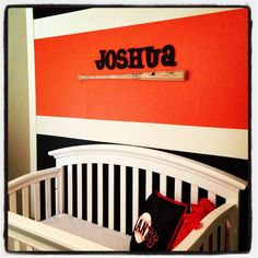San Francisco Giants nursery.. When I have kids this is exactly what I'll do with the nursery