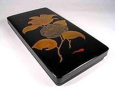 Complete Japanese Lacquer Suzuri-bako Writing Box, Meij
