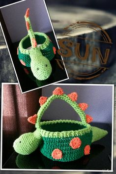 This basket is all hand crochet made in non-smoking and pet free environment. Baske measures at 12 in lenght, 4 in depth. and 26 in circumference. International shipping takes 15 to 25 days for delivery. This basket is great for Halloween, Easter, or any occassion.